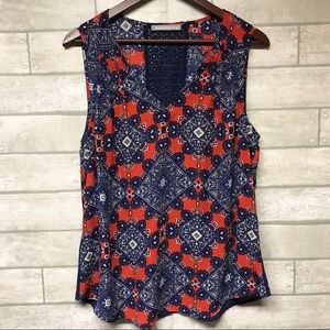 Daniel Rainn sleeveless blouse size Large
